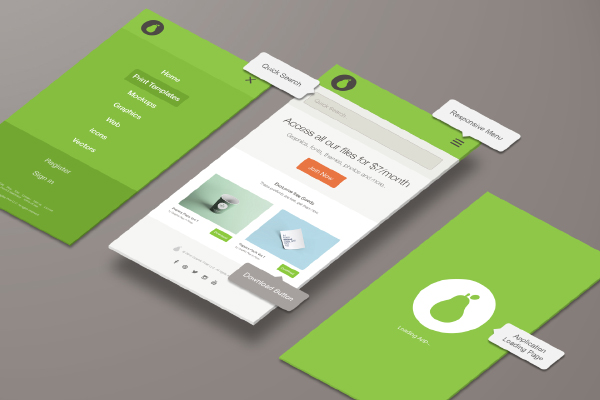 Top One Page PSD Template for Different Purposes