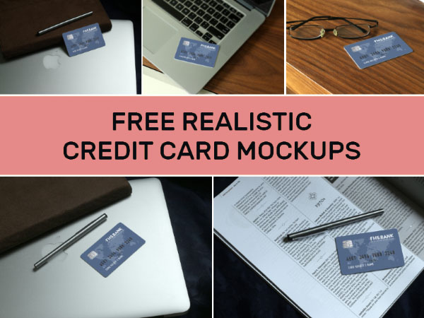 Realistic Credit Card Mockup Collection For Designers To Use Via